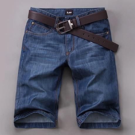 2019 Summer New Brand Men's Clothing Denim Shorts/Men Casual Denim Cowboy Shorts Jeans Loose Straight Lightweight Shorts for Men