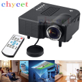 GM40 Mini Projetor Portátil 320x240 Multimedia Cinema LED Projector Digital VGA/USB/SD/AV/HDMI Projetor GM40 PK UC46 GM60