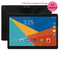 Super Tempered 2.5D Glass 10 inch tablet Android 8.0 Octa Core 4GB RAM 128GB ROM 8 Cores 1280*800 IPS Screen Tablets 10.1 + Gift