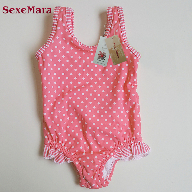 SexeMara 2017 girls swimsuit kids swimwear children bikinis baby set new biquini Dot kid meisjes bikini girl bathing suit пуловер max mara weekend пуловер