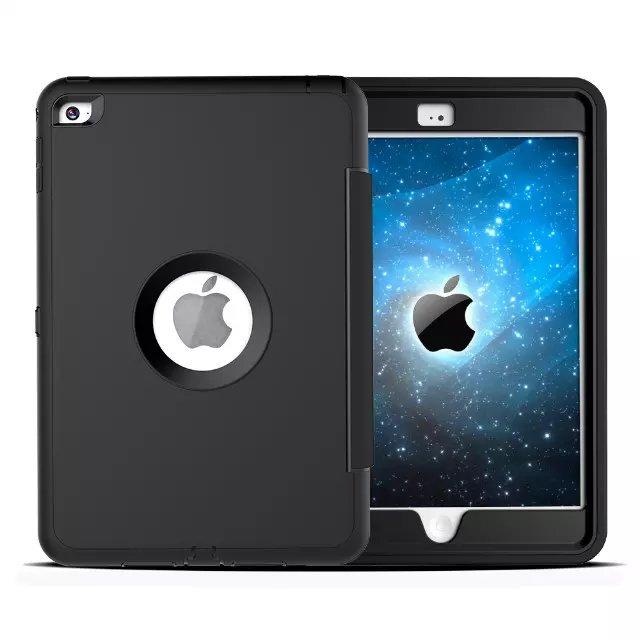 For Apple iPad mini 4 Case Cover Retina Kids Safe Armor Shockproof Heavy Duty Silicone Hard Case 3 PCS Free Gifts (1)