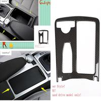 Lapetus Accessories Water Cup Holder Multimedia Panel Decoration Cover Trim For Mercedes Benz C CLASS W204 C180 C200 2009 2014