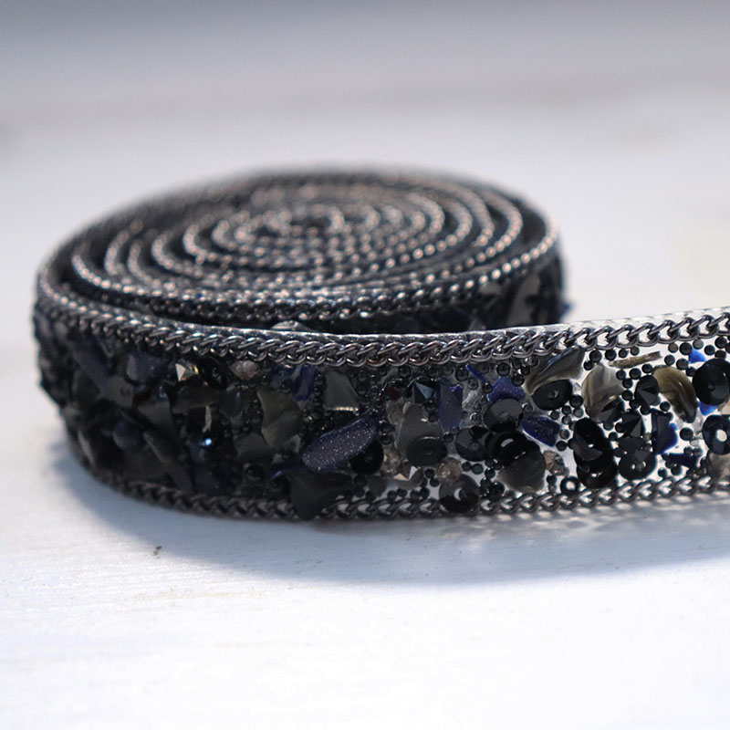 Cindylaceshow 2cm Width Fake Pearls Beaded Lace Trim Black Mesh Fabric Paillette Lace Beaded Pearl Trims Braid DIY Lace Applique in Lace from Home Garden