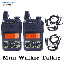2 PCS Baofeng BF-T1 BF T1 Wakie Mini Walkie Talkie CB Ham UHF Radio Station Transceiver Boafeng PMR 446 PMR446 Scanner Woki Toki(China)