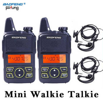 2 PCS Baofeng BF-T1 BF T1 Wakie Mini Walkie Talkie CB Ham UHF Radio Station Transceiver Boafeng PMR 446 PMR446 Scanner Woki Toki - DISCOUNT ITEM  0% OFF All Category