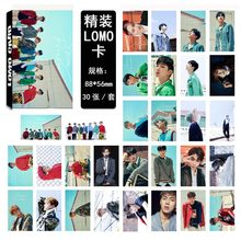 KPOP 2018 HOT MONSTA X Postcard PHOTO cards k-pop MONSTA X card+lyrics poster+sticker 30 pcs greeting LOMO card k pop Photocard(China)