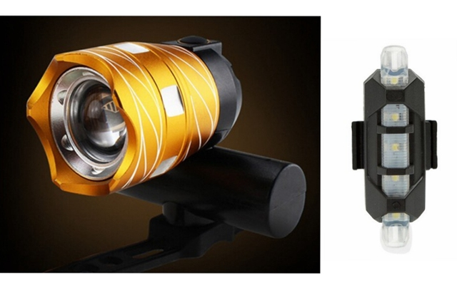 Zoom 15000 LM Bicycle Front Light Bike Headlight LED USB Rechargeable Lamp IP65