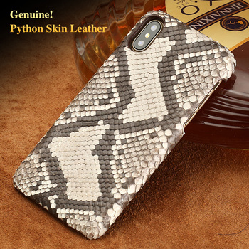 Leather python skin cover back cover For iPhone x case python skin high-end custom phone case For iPhone 6s 7 8 plus case