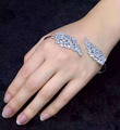 silver-plated micro drilling palm bracelet