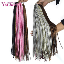 synthetic dreads hair janet collection african braiding hair extension blonde faux locs crochet braids YxCheris