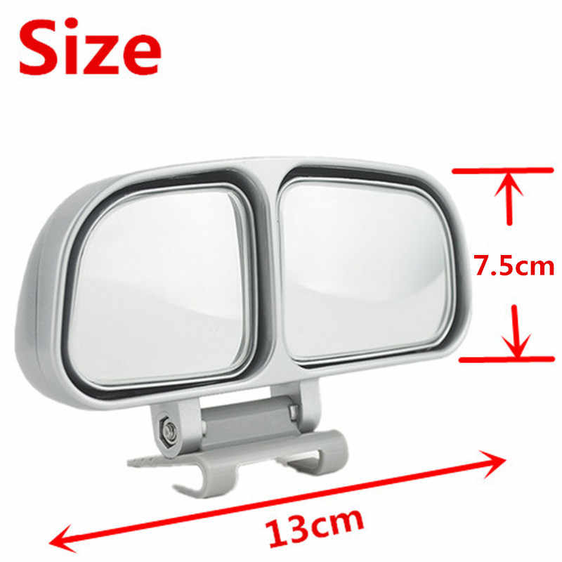 Newbee Adjustable HD Wide Angle Convex Blind Spot Cermin Persegi Mobil Truk Van Motor Snap Cara Tambahan Parkir Rear View