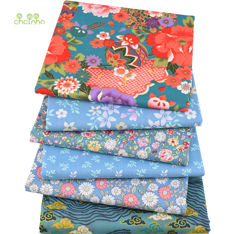 New Floral Series Twill Cotton Fabric,Patchwork Cloth,DIY Sewing Quilting Fat Quarters Material for Baby/&Child 40x50cm 6 pcs