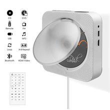 Reproductor de DVD Kustron con salida HDMI 1080P para TV, reproduce DVD y CDs, tira de interruptor con Control remoto, Bluetooth, Radio FM, etc.