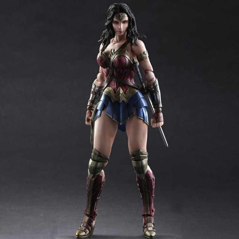anime Batman V Wonder Woman Play Arts Kai figure 1/6 scale painted variant Anime PVC Action Figure Collectible Model Toy T5776 brian azzarello wonder woman volume 1 blood