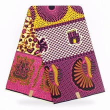 YBGXH-128 Latest African wax Fabrics,Premier Hot Ankara Fabric Super Deluxe Java Wax fabrics 6yards