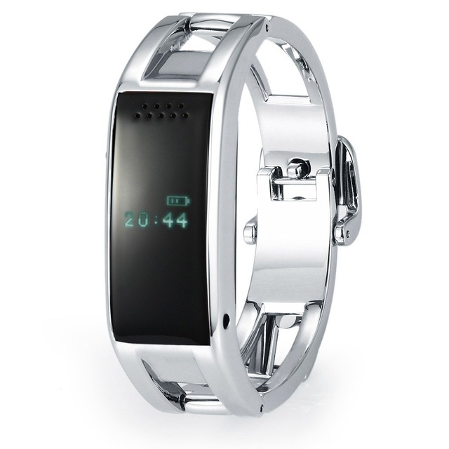 New 2015 Bluetooth D8 Full steel font b Smart b font Bracelet Sync Wrist LED Digital