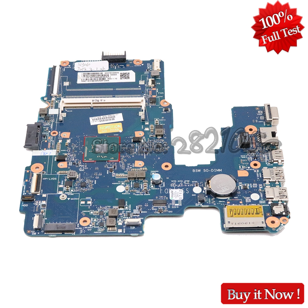 NOKOTION 858040 001 Laptop motherboard For HP 14 AM 6050A2823301 MB A01 Main board with N3060