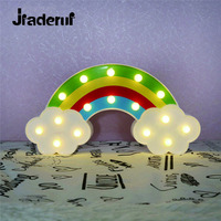 Jiaderui LED Rainbow Night Light Home Wall Decoration Light Baby Bedside Night Lamp Baby Children