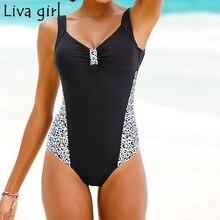 Liva девушка размера плюс цельные костюмы пуш-ап мягкий бразильский купальник горячий набор пляжный Монокини Купальный костюм бикини 5XL