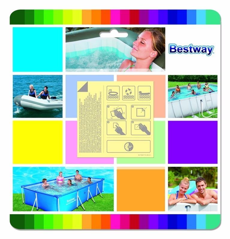 """62091 Bestway 2.5*2.5"""" Underwater Adhesive Repair Patch For Inflatable Pool,Boat,Mat,Sofa,Bed 6.5x6.5cm Plastic Stick-on Patch"""