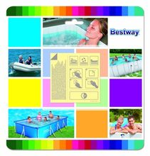 "62091 Bestway 2.5*2.5"" Underwater Adhesive Repair Patch for Inflatable Pool,Boat,Mat,Sofa,Bed 6.5x6.5cm Plastic Stick-on Patch(China)"