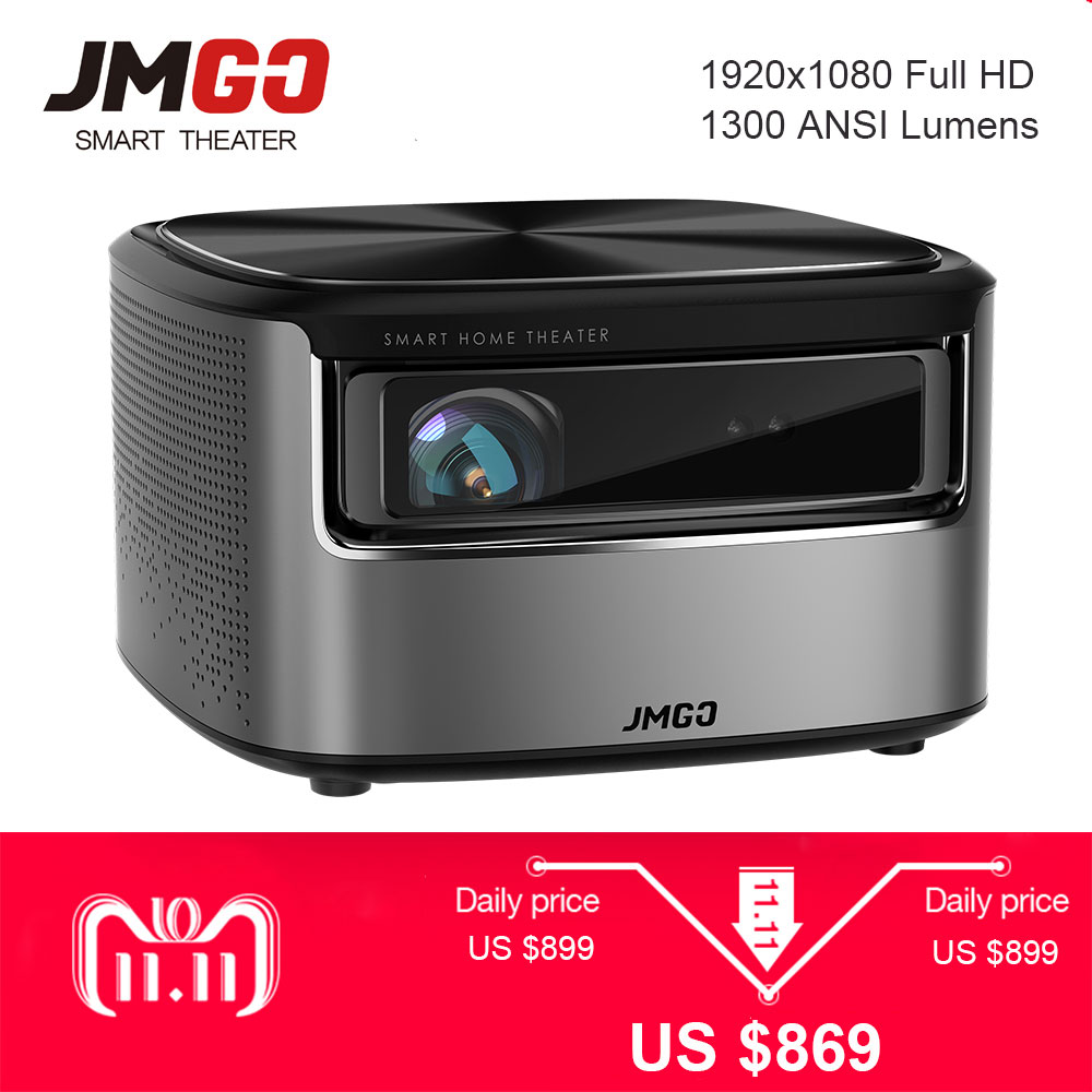 все цены на JMGO N7 Full HD Projector,1300 ANSI Lumens, 1920*1080P, 2G+16G, Home Theater WIFI Bluetooth HDMI USB Support 4K Smart Beamer