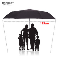 125cm Big Top Automatic Umbrella Men Rain Women 3Folding Windproof Large Paraguas Male Woman Sun Big