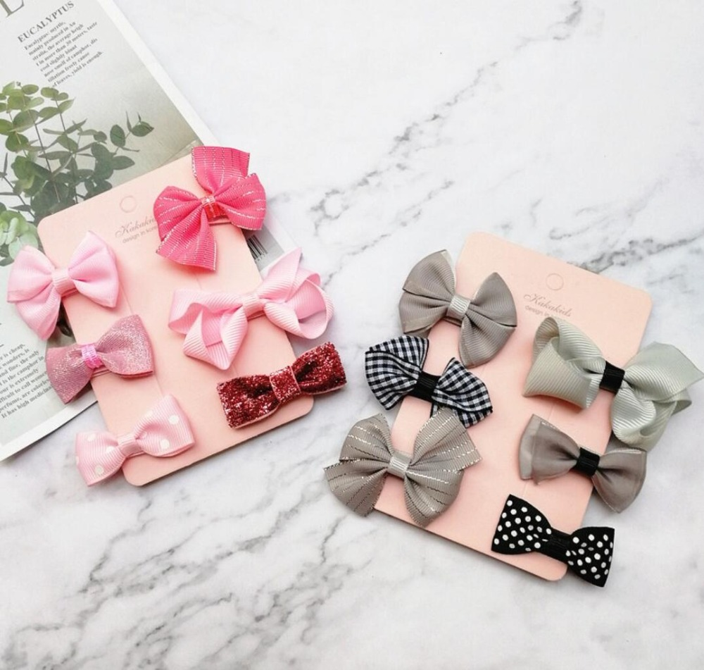 6.5/'/' Baby Hair Bows For Girls Women Grosgrain Ribbon Boutique bow Clips
