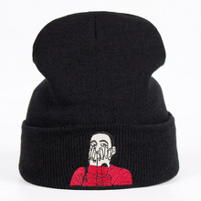 Mac Miller Beanie Embroidery US Rapper Malcolm Knit Cap McCormick Knitted Hat Skullies Warm Winter Unisex Ski Gorros Cap(China)