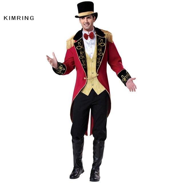 Kimring Ringmaster Halloween kostüm Circus Gentleman Karneval Magier ...