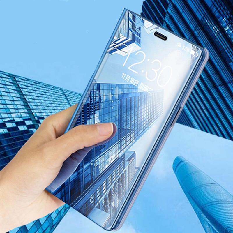 Clear View зеркало смарт-кожаный чехол для samsung Galaxy S8 S9 плюс S7 S6 края Примечание 8 5 для samsung galaxy A7 A5 2017 Стенд чехол