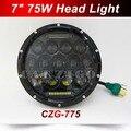 """CZG-775 Привет/ближнего света 75 Вт 7 Дюймов Круглый Светодиодный Фар 7 """"75 Вт Круглый СВЕТОДИОДНЫЙ головной свет лампы с белый DRL для Harley для Jeep Wrangler"""