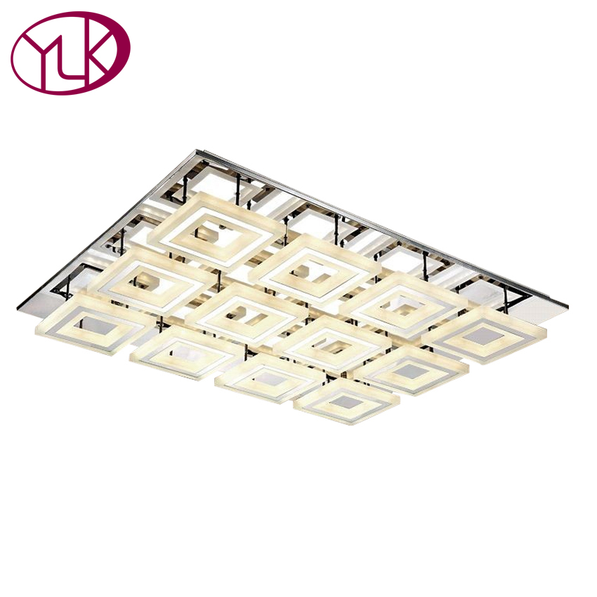 Free Shipping Modern Ceiling Light For Living Room Square Acrylic Led Lamps Lamparas De Techo Indoor Lighting Guaranteed 100%  free shipping best selling living room led ceiling light 200mm dia led chandelier