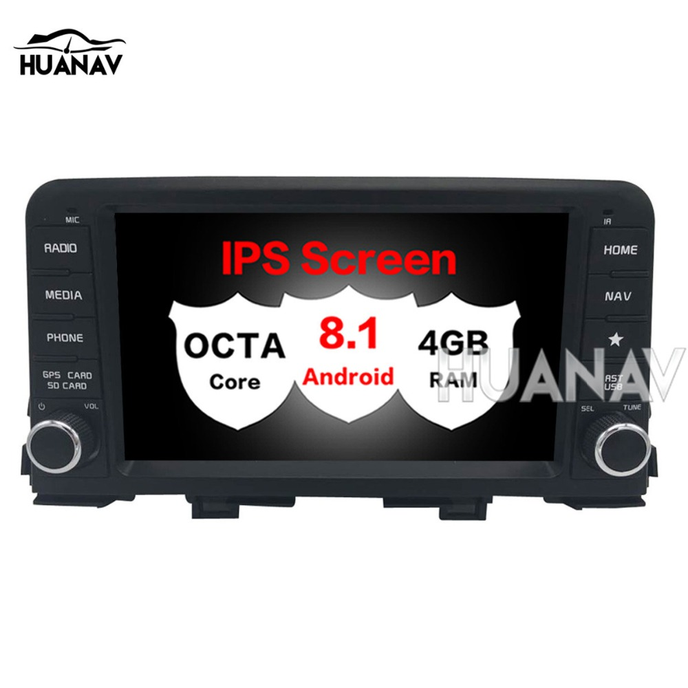 Car GPS Navigation Stereo for KIA PICANTO MORNING 2017 2018 1 din Auto Radio Multimedia Android 8.1 No DVD Player tape recorder image
