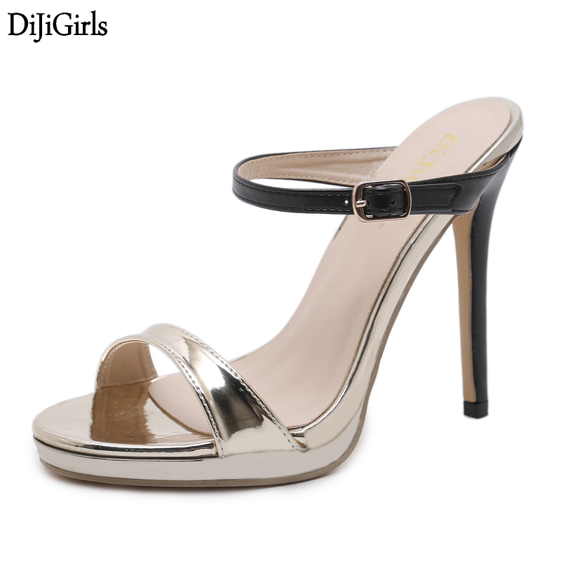 13cm High Heel Sandals Sexy Peep Toe High Heel Slippers Women Summer Shoes Fashion Wedding Party Dress Sandals women platform thick high heel peep toe sandals fashion buckle cover heel dress party summer shoes black blue pink