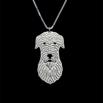 Irish Wolfhound pendant and necklace- Gold and silver pendant and necklace jewelry Simple abstract animal image