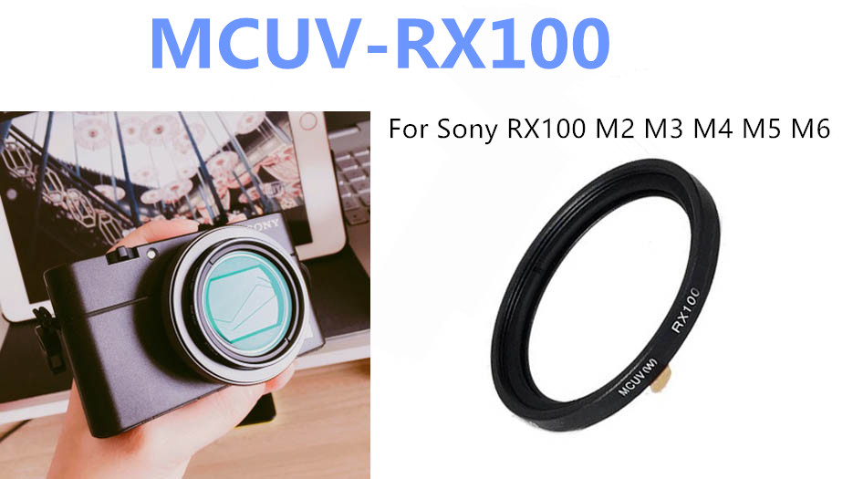 Waterproof Mildew-proof Multi Coated MCUV UV Filter for Sony RX100 M6 M2 M3 M4 M5 DSLR Camera with Lens Case