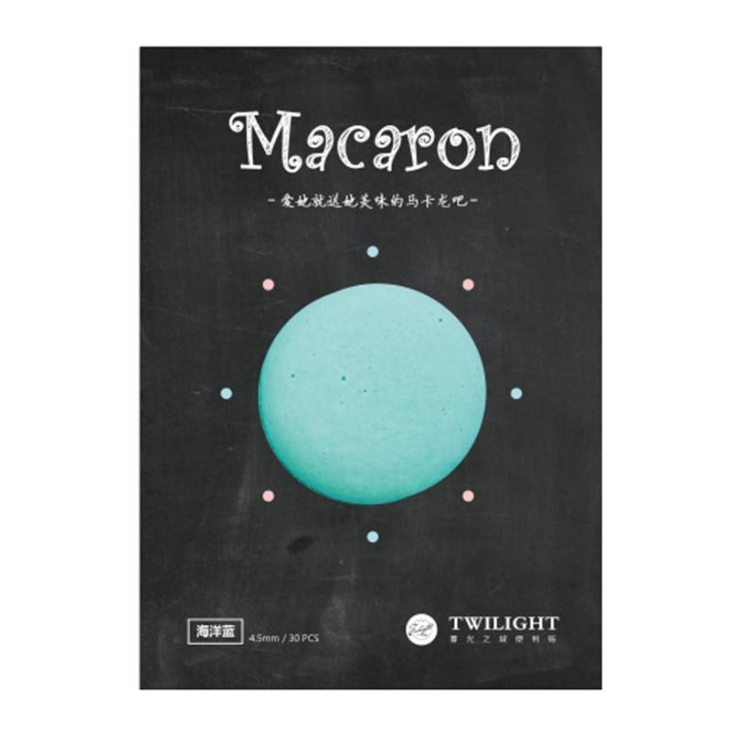 8 rəngli Macaron yapışqan xatirə yastığı Vintaj gündəlik - Qeyd kitabçaları - Fotoqrafiya 5