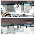 Car Side Window Sunshade Curtain Mesh Visor Shield Solar Protection Black