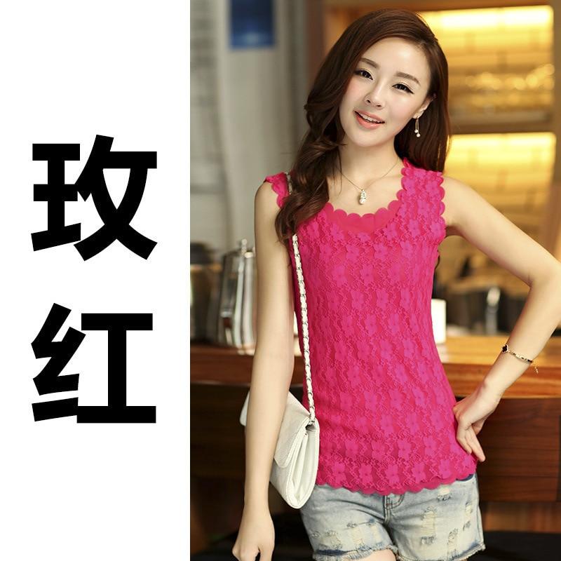 Tops amarillo Camisas lote Casual rosado 1 Las De Ganchillo Primavera Blusa Para Encaje Unids rojo Invierno Ds03 blanco Negro Otoño Mujeres Blusas Camisa Ropa gOzFq