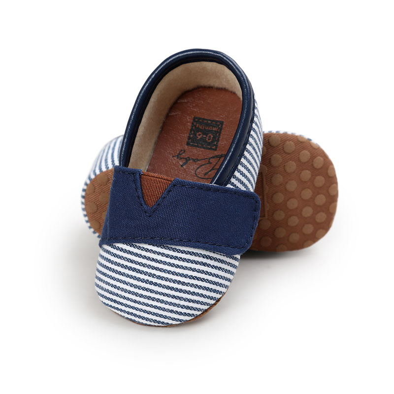 WONBO 2018 Autumn New Design Baby Shoes Gingham Cotton Hook /& Loop First Walkers