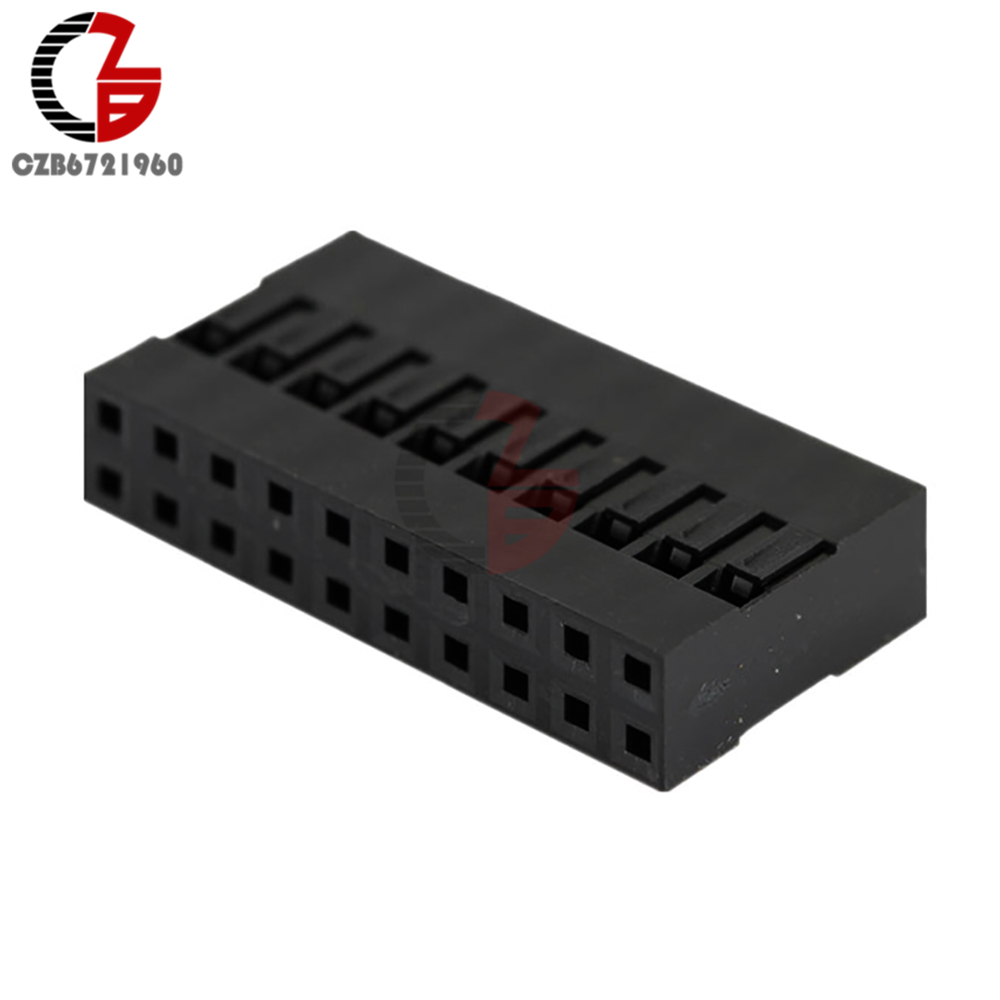 10PCS Dupont Connector Housing Female 2.54mm 2x10P10PCS Dupont Connector Housing Female 2.54mm 2x10P