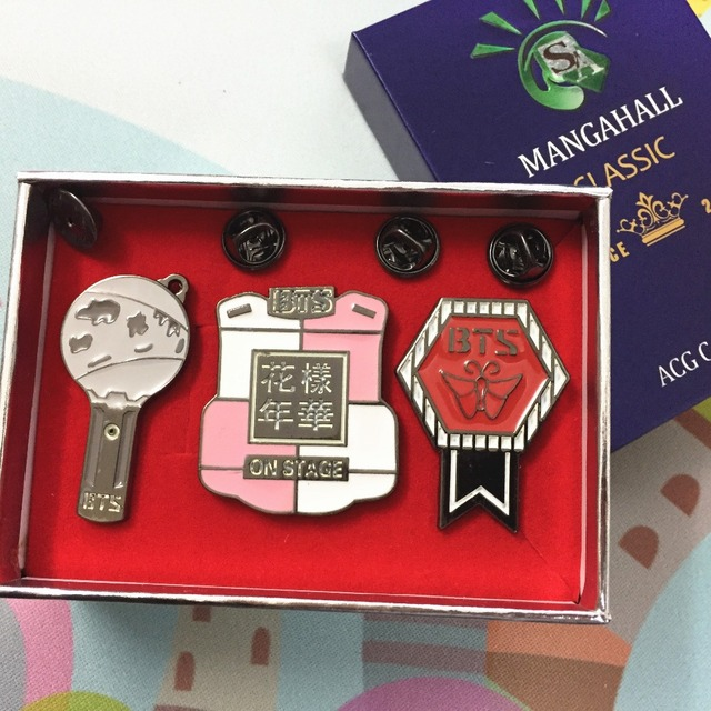 Premium BTS Pin Badges Set