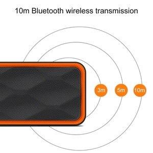 Image 4 - Mini altavoz portátil Bluetooth columna bajo Subwoofer soporte FM Radio AUX USB TF tarjeta HIFI altavoz portátil para computadora iPhone