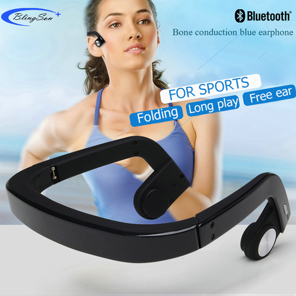Bone Conduction Headset Wireless Bluetooth Headphones Sports Earphone Stereo Bass Headphone New Tech for iPhone Android Xiaomi