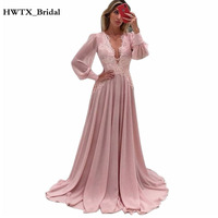 Elegant Long Sleeve Mother Of The Bride Dress Plus Size Vintage Lace Chiffon A Line Long Prom Dress Cheap Groom Mother Gowns