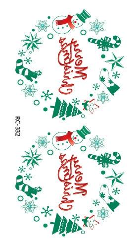 2pcs/lots Hot color christmas tattoo stickers small fresh men and women waterproof anti sweat RC2332