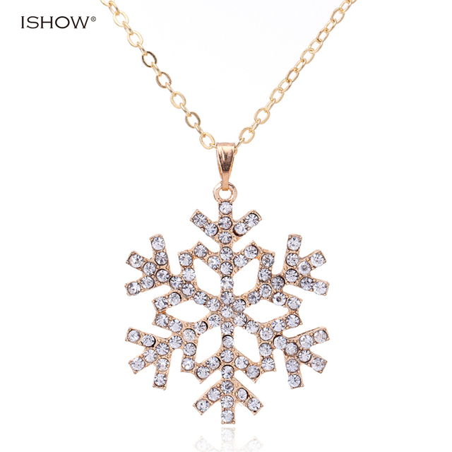 Gift christmas necklace cz crystal inlaid charm long necklaces gift christmas necklace cz crystal inlaid charm long necklaces snowflake statement necklace pendants necklace bijoux colliers aloadofball Image collections