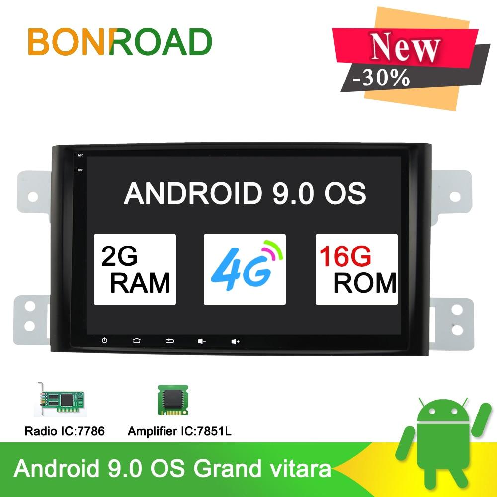 Bonroad Android 9 0 Car multimedia player For Suzuki grand vitara 2007 2011 radio gps navigation