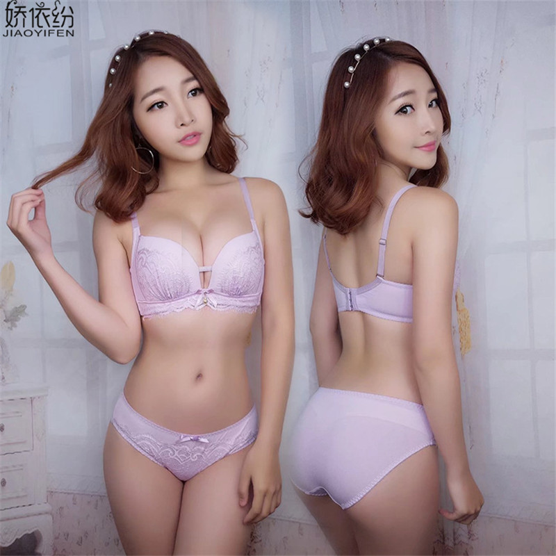 JYF 2017 New Fashion Sexy Lace Bra Set Comfortable Women Underwear Set Tassel Fine Embroidery Bra Panty Sets